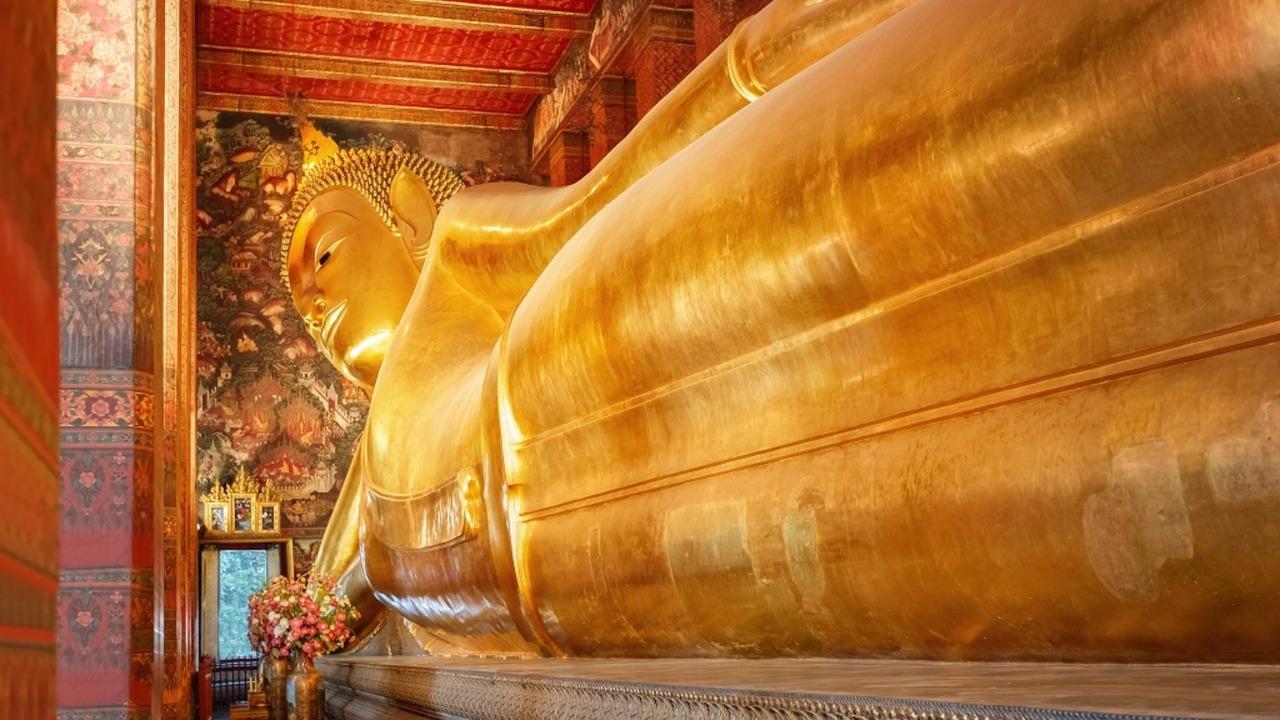 Der liegende Buddha Wat Pho (Pho Temple) in Bangkok