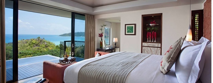 Raffles Seychelles - Zimmerbeispiel